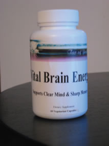 Tao of Youth Vital Brain Energy Capsules 1-2 Month Supply (60 Capsules)