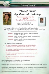 Workshop: Tao Of Youth Age Reversal Live Workshop!